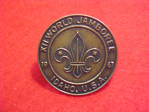 1967 WJ NECKERCHIEF SLIDE, COIN TYPE(FRONT OF COIN)