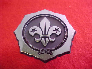 1971 WJ NECKERCHIEF SLIDE, WORLD SCOUTING EMBLEM, SOLD AT TRADING POST, PLASTIC
