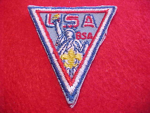 1971 WJ HAT PATCH, BSA CONTIGENT, 55 X 60MM, MINT