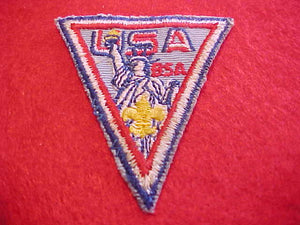 1971 WJ HAT PATCH, BSA CONTIGENT, 55 X 60MM, USED