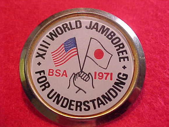 1971 WJ NECKERCHIEF SLIDE, UNOFFICIAL, TROOP ISSUE?