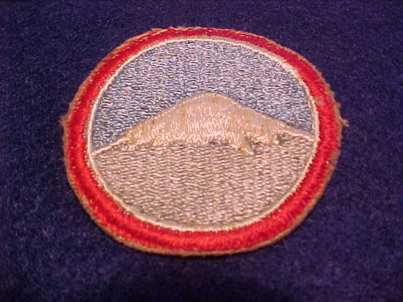 1971 WJ AWARD PATCH, HIKE ISSUED 1/SCOUT WHO COMPLETED HIKE TO TOP OF MT. FUJI BEFORE TYPHOON OLIVE CAUSED CANCELLATION OF ALL WJ HIKES