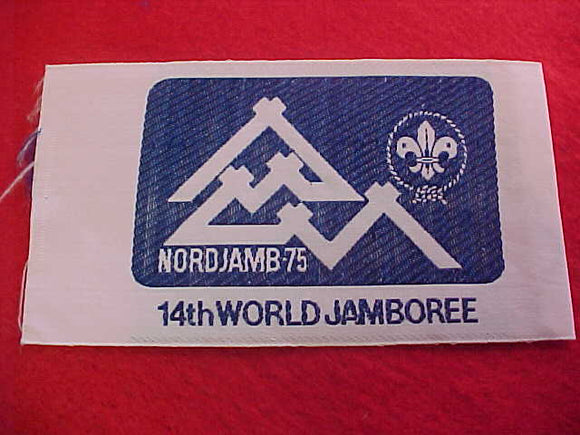 1975 WJ POCKET PATCH, OFFICIAL ISSUE FOR PARTICIPANTS, ISSUED 2 PER SCOUT, WOVEN