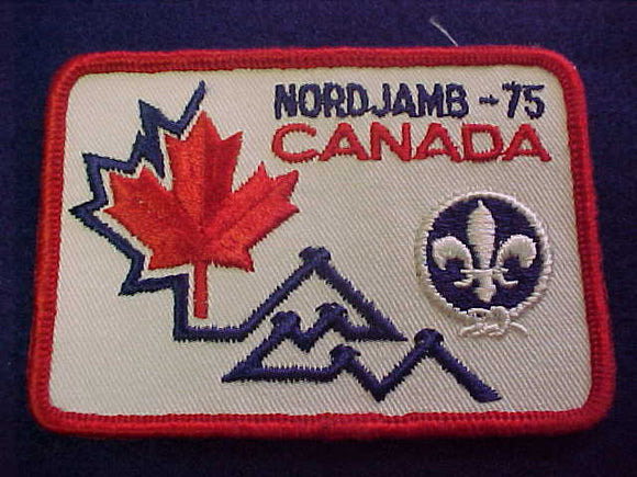 1975 WJ PATCH, CANADA CONTIGENT, 71 X 101MM