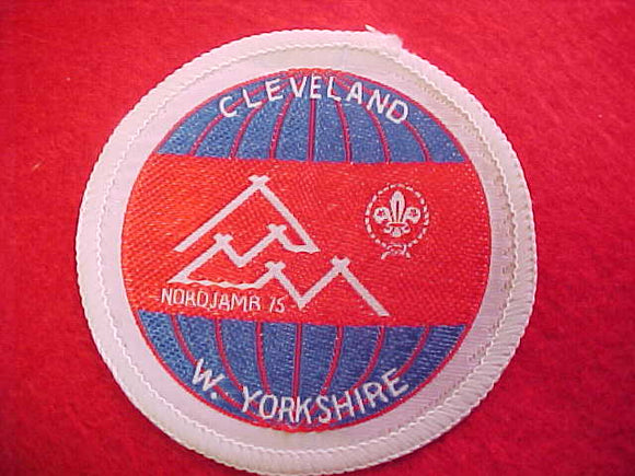 1975 WJ PATCH, CLEVELAND/W. YORKSHIRE CONTIGENT, 70MM