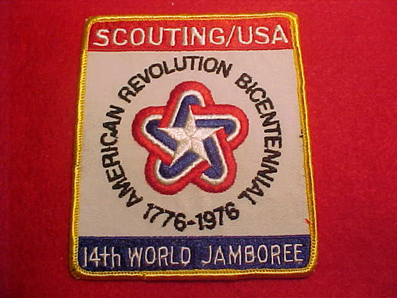 1975 WJ JACKET PATCH, BSA CONTIGENT