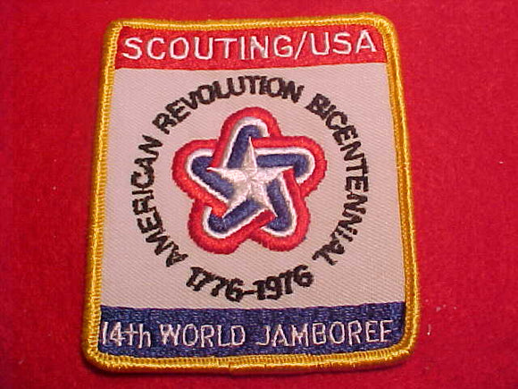 1975 WJ POCKET PATCH, BSA CONTIGENT, 74 X 86MM