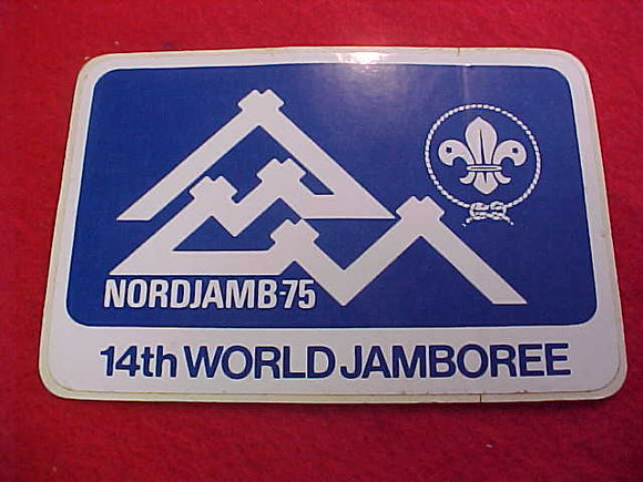 1975 WJ STICKER, 72 X 103MM