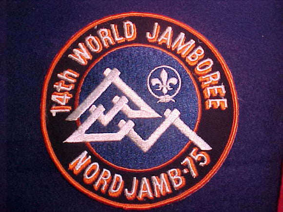 1975 WJ JACKET PATCH, SOLD AT TRADING POST, 6 DIAMETER