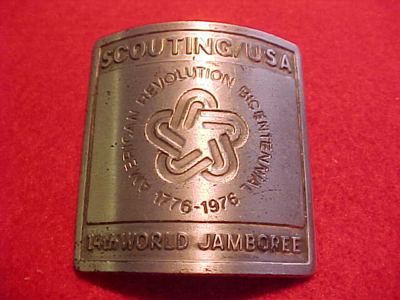 1975 WJ NECKERCHIEF SLIDE, BSA CONTIGENT