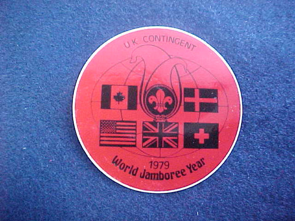1979 WJ YEAR STICKER, UNITED KINGDOM CONTINGENT, 70 MM
