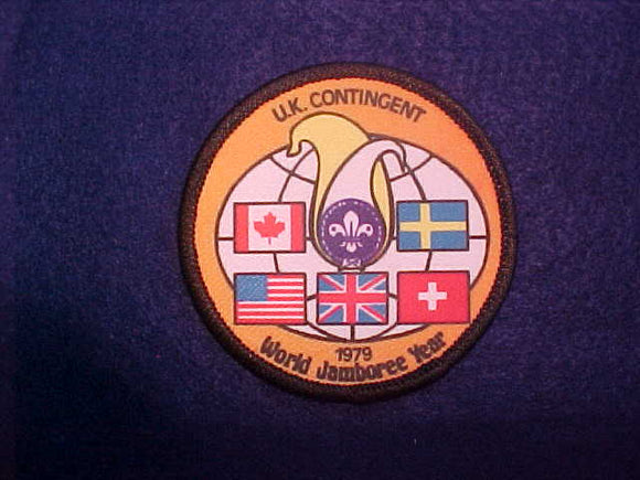 1979 WJ YEAR PATCH, UNITED KINGDOM CONTINGENT