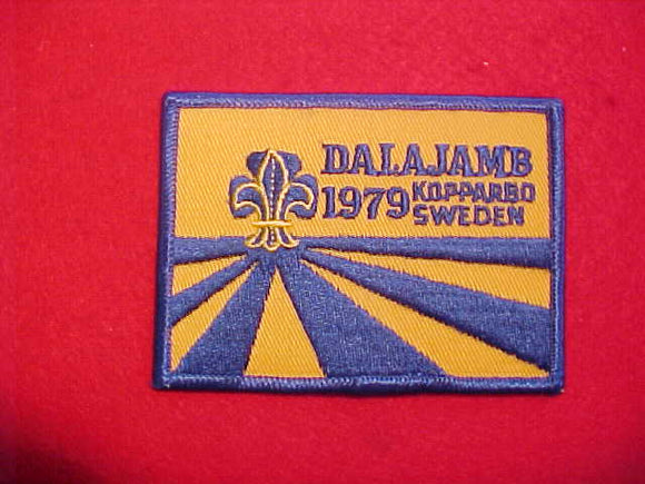 1979 WJ PATCH, DALAJAMB SWEDEN, NOT FULLY EMBROIDERED