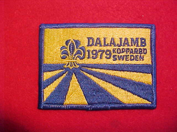 1979 WJ PATCH, DALAJAMB SWEDEN, FULLY EMBROIDERED