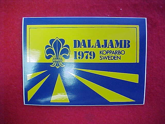 1979 WJ STICKER, DALAJAMB SWEDEN, 75X105 MM
