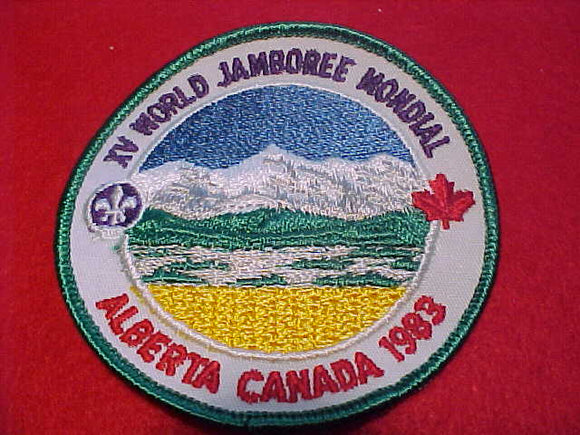1983 WJ PATCH, OFFICIAL ISSUE, CLOTH BACK, 90MM DIAMETER