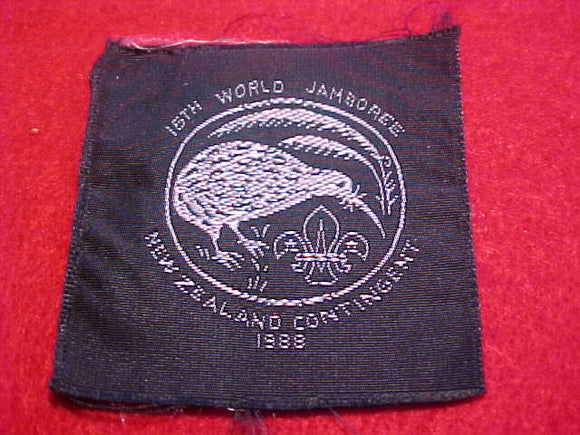1983 WJ PATCH, NEW ZEALAND CONTIGENT, WOVEN