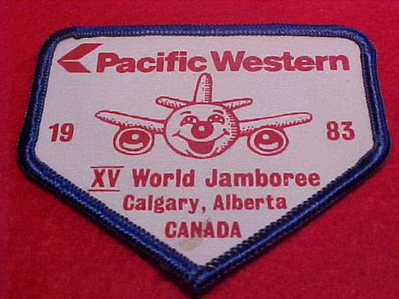 1983 WJ PATCH, PACIFIC WESTERN AIRLINE