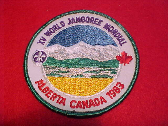 1983 WJ PATCH, OFFICIAL ISSUE, PLASTIC BACK, 90MM DIAMETER