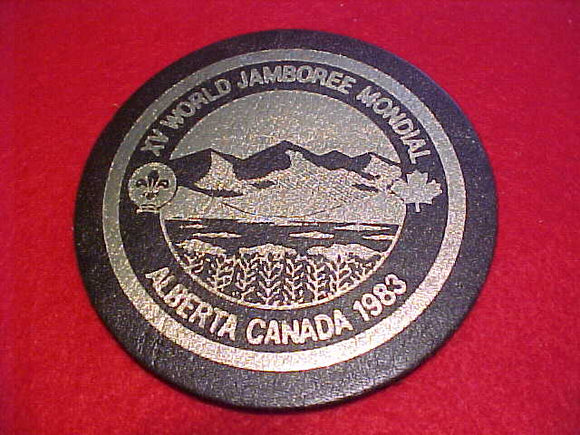 1983 WJ PATCH, TRADING POST ISSUE, LEATHER, 84MM