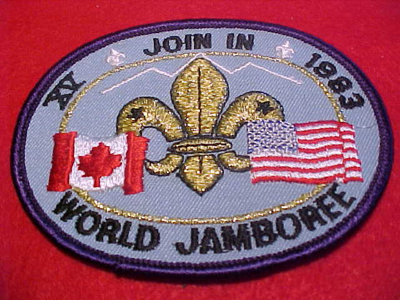 1983 WJ PATCH, JOIN IN JAMBOREE, USA/CANADA