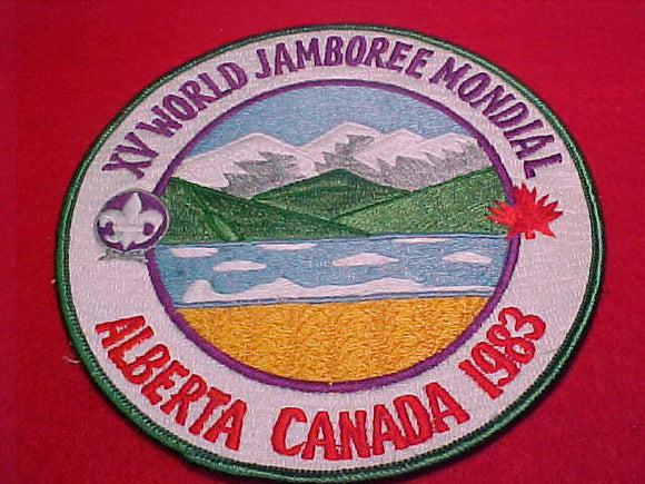 1983 WJ JACKET PATCH, ASIAN EMBROIDERY, UNOFFICIAL, FULLY EMBROIDERED, MVE, 150MM