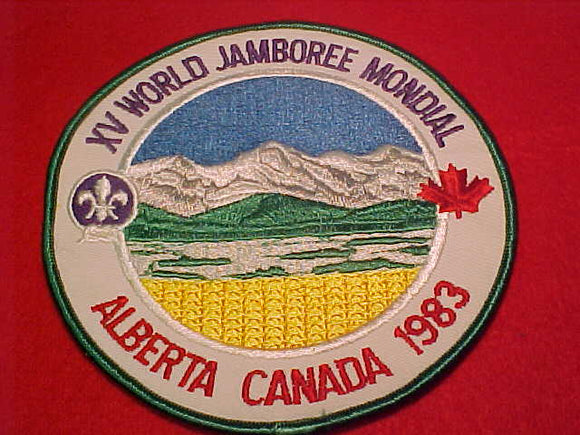1983 WJ JACKET PATCH, NOT FULLY EMBROIDERED, 150MM DIAMETER
