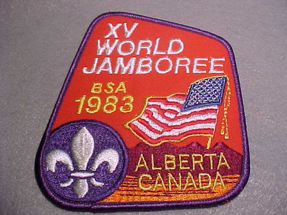 1983 WJ BSA CONTIGENT JACKET PATCH, 117 X 104MM