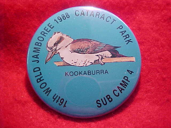1988 WJ BUTTON, SUBCAMP 4, KOOKABURRA, PIN BACK