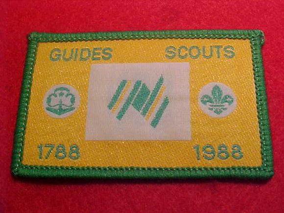 1988 WJ PATCH, GUIDES/SCOUTS, BICENTENNIAL