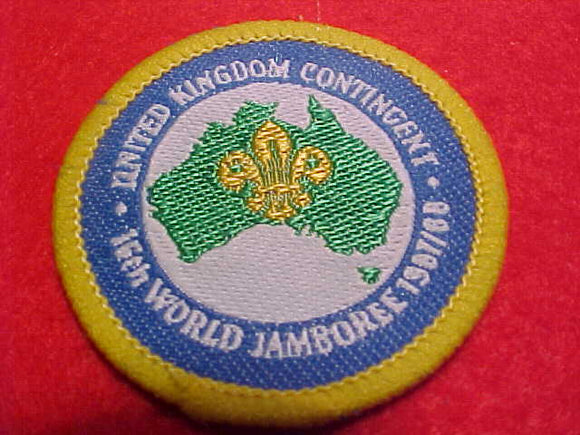 1988 WJ HAT BADGE, UNITED KINGDOM, 45MM ROUND