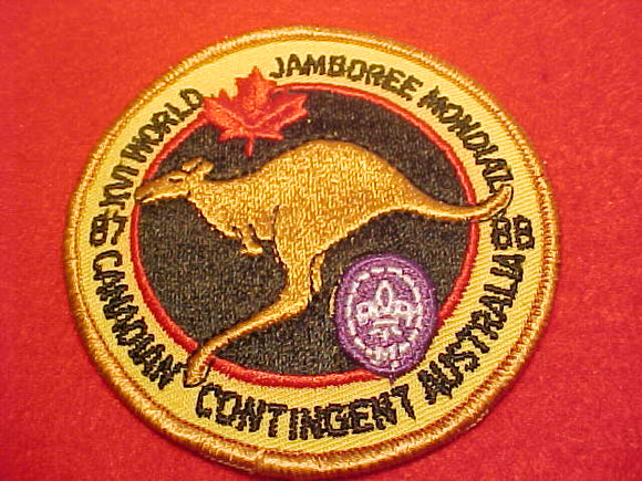1988 WJ PATCH, CANADIAN CONTIGENT