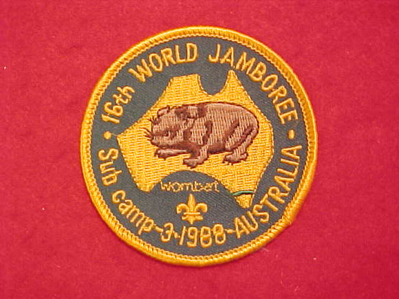1988 WJ PATCH, SUBCAMP 3, WOMBAT