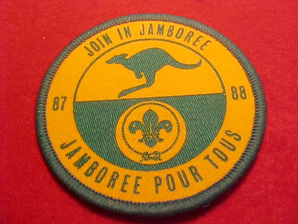 1988 WJ PATCH, JOIN IN JAMBOREE, 70MM ROUND