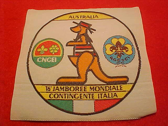 1988 WJ PATCH, ITALY CONTIGENT, WOVEN