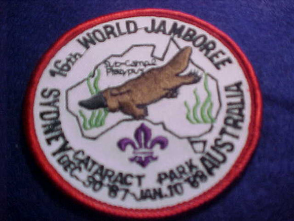 1988 WJ PATCH, SUBCAMP 2, PLATYPUS