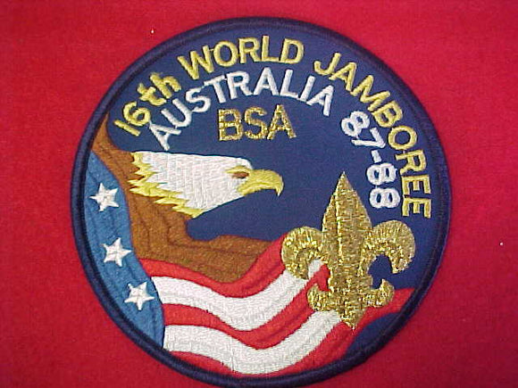 1988 WJ JACKET PATCH, BSA CONTIGENT, 5.25