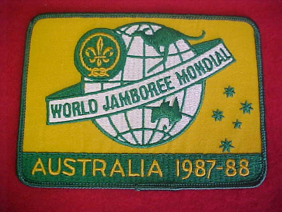 1988 WJ JACKET PATCH, OFFICIAL, 147X105MM