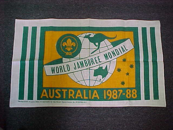 1988 WJ BANNER, PRINTED ON LINEN, 18.25X31