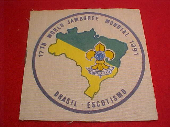 1991 WJ PATCH, BRAZIL CONTIGENT, SILKSCREENED