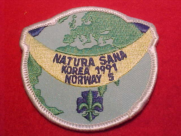 1991 WJ BADGE, NORWAY 5, NATURA SANA