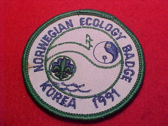 1991 WJ BADGE, NORWAY ECOLOGY
