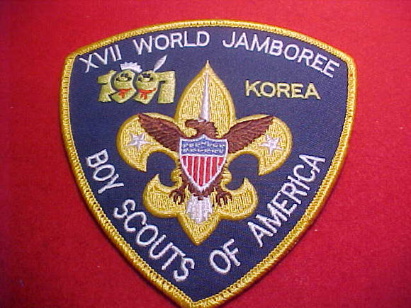 1991 WJ JACKET PATCH, BSA CONTIGENT, 5 X 5