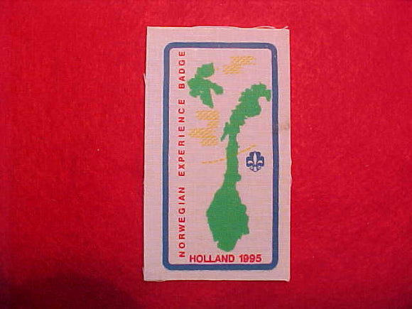 1995 WJ BADGE, NORWEGIAN EXPERIENCE, NORWAY, RARE