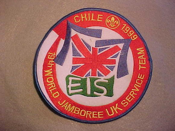 1999 WJ JACKET PATCH, UNITED KINGDOM SERVICE TEAM, 6.25