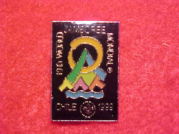 1999 WJ PIN, BLACK BACKGROUND, 15X22 MM