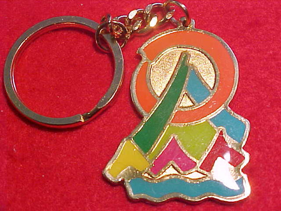 1999 WJ KEYCHAIN, GOLD METAL, ODD SHAPE