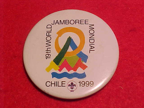 1999 WJ BUTTON, PIN BACK, 45MM DIAMETER