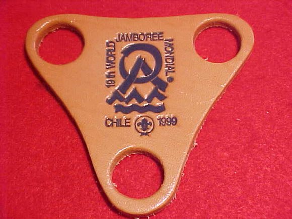 1999 WJ WOGGLE, 3 HOLE LEATHER, BLUE IMPRINT