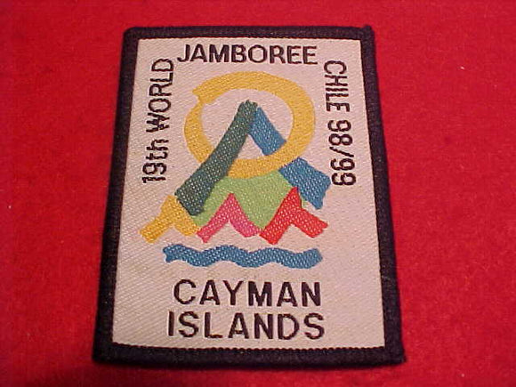 1999 WJ CONTINGENT PATCH, CAYMAN ISLANDS, VERY RARE